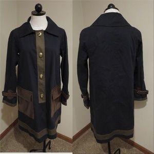 Club Monaco raincoat jacket trench faux leather